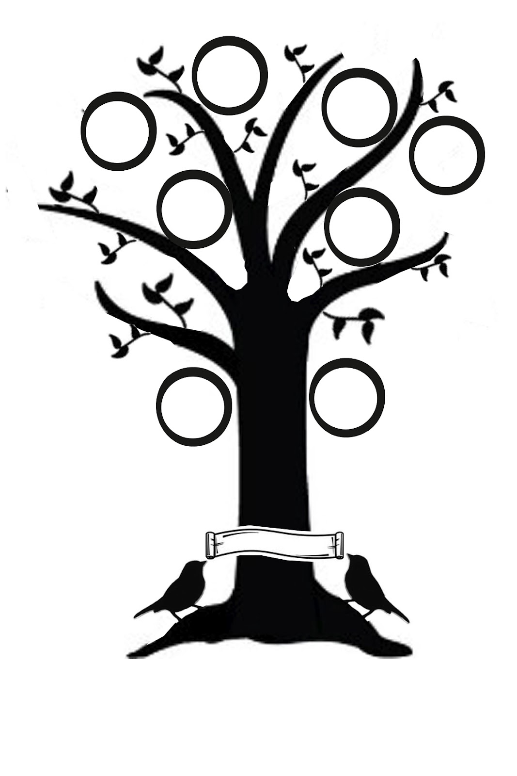 Simple Family Tree Drawings a Simple Family Tree Temaplate
