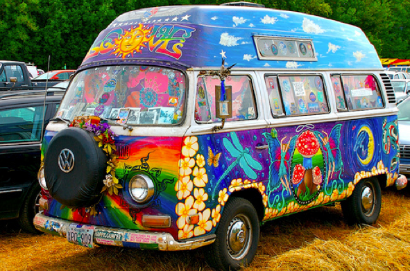 Vehicools series (6) – The Hippie VAN | DAILY DOSE OF ART