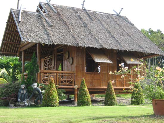 b7f42 bamboo house1 - Download Bahay Kubo Small Bamboo House Design Philippines PNG
