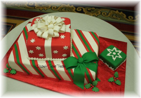 Christmas Cake Decoration Present : The Christmas Gift Cake: Eat As You Open DAILY DOSE OF ART
