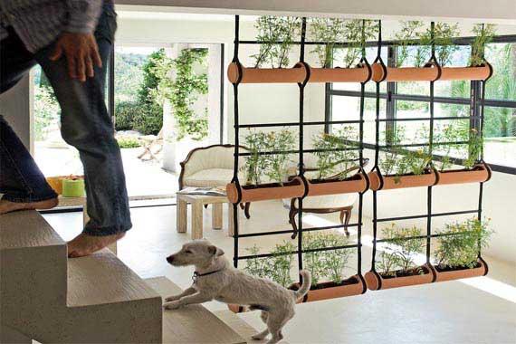 Partitions dividers 6 diy vertical garden room divider for Garden divider ideas