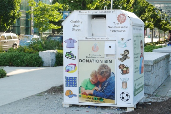 sample donation bin