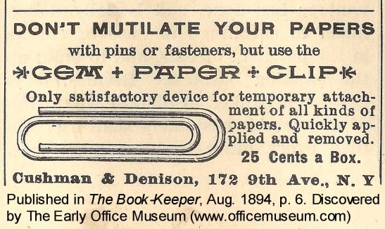 1894_Gem_Paper_Clip_adv_discovered_by_The_Early_Office_Museum