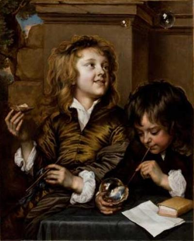 Adriaen_Hanneman_Two_Boys_Blowing_Bubbles