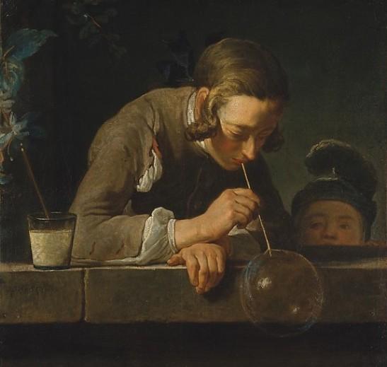 Soap Bubbles-Jean Siméon Chardin