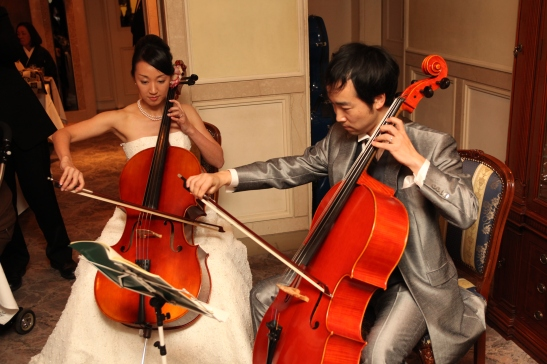 Tomo & Nao- playing at wedding party