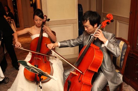 Tomo & Nao- playing at wedding party