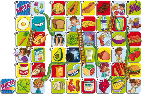 Snakes ladders 5 promoting nutrition lawfulness more for Escaleras y serpientes imprimir