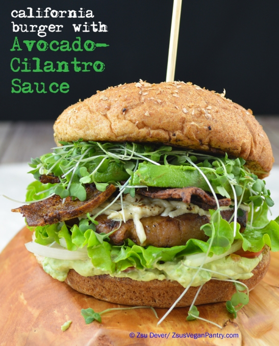 Cali Burger with Avocado-Cilantro Sauce_Zsu Dever