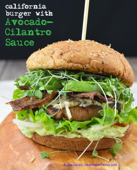 Cali Burger with Avocado-Cilantro Sauce_Zsu Dever