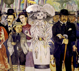 Conversational calaveras 1 la famosa catrina daily dose for Diego rivera day of the dead mural