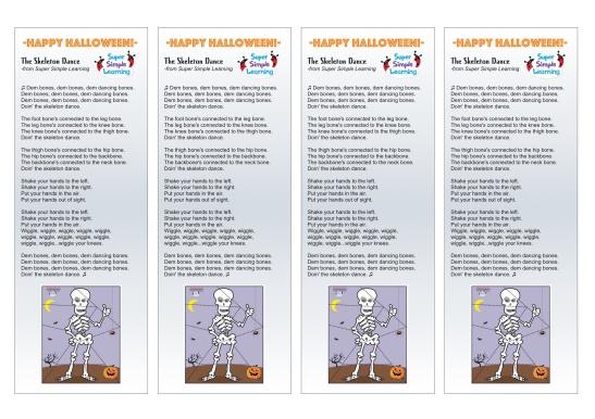 skeleton dance lyrics for back