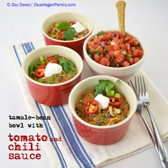 Tamale Bowl with Tomato and Chili Sauce_Zsu Dever