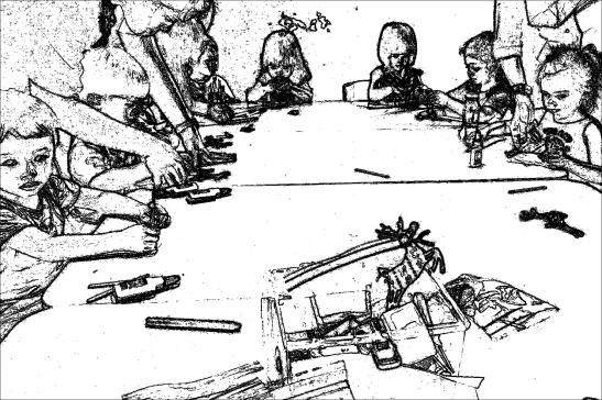 rudolph-kids at work-SKETCH 1