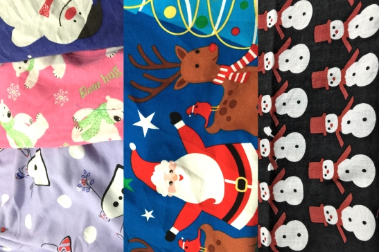 Sample Christmas fabric