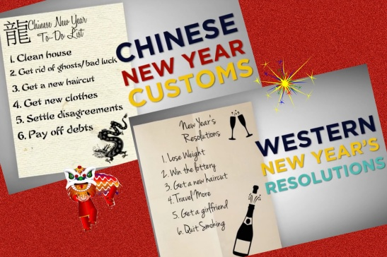 CNY to do list & WesternNEW YEARs Resolution